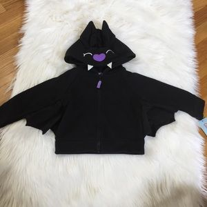 Cat & Jack Black Bat Zip Up Jacket